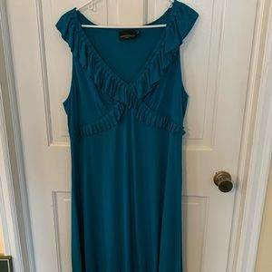 Plus size 3x dark teal Cynthia Rowley ruffle dress